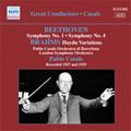 Beethoven: Symphonies No.1 Op.21, No.4 Op.60; Brahms: Haydn Variations Op.56a, etc (12/6/1927) / LSO, etc