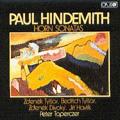 Hindemith: Horn Sonatas / Zdenek Tylsar, Bedrich Tylsar, Zdenek Divoky, Jiri Havlik, Peter Toperczer