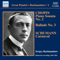 Sergei Rachmaninov - Piano Solo Recordings Vol.1: Victor Recordings 1925-1942: Chopin: Piano Sonata No.2; Schumann: Carnaval Op.9, etc