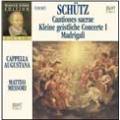 Schutz Edition Vol II - Cantiones Sacrae, Madrigali, etc / Matteo Messori, Cappella Augustana