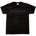 Interpol 「Black Logo」 T-shirt Black/Lサイズ