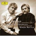 Brahms:Piano Concerto No.1 Op.15 (9/2003 & 12/2004)  / Krystian Zimerman(p)/Simon Rattle(cond)/BPO