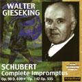 SCHUBERT:IMPROMPTUS D.899/D.935 (1955):WALTER GIESEKING(p)