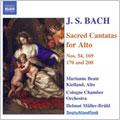 J.S.BACH:SACRED CANTATAS FOR ALTO:VERGNUGTE RUH, BELIEBTE SEELENLUST BWV.170/WIDERSTEHE DOCH DER SUNDE BWV.54/ETC:HELMUT MULLER-BRUHL(cond)/COLOGNE CHAMBER ORCHESTRA/MARIANNE BEATE KIELLAND(A)/ETC