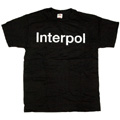 Interpol 「White Logo」 T-shirt Black/Lサイズ