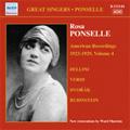 Rosa Ponselle -American Recordings 1923-29 Vol.4 -Verdi, Dvorak, A.Rubinstein, Bellini