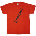 Interpol 「Diagonal Logo」 T-shirt Red/Lサイズ