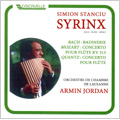 J.S.Bach: Suite No.2 BWV.1067 -Badinerie; J.Quantz: Flute Concerto; Mozart: Flute Concerto No.1 KV.313 (1984-85) / Simion Stanciu Syrinx(pan flute), Armin Jordan(cond), Lausanne Chamber Orchestra