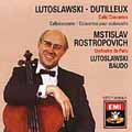 Angel -Lutoslawski, Dutilleux: Cello Concertos /Rostropovich