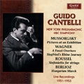 Mussorgsky: Pictures at an Exhibition (3/29/1953); Wagner: A Faust Overture (3/22/1953); Roussel :Sinfonietta (12/15/1951), etc / Guido Cantelli(cond), NYP, etc