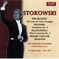 Leopold Stokowski -Live Recording 1941-1943: Prokofiev, E.MacDowell, Brahms, etc / NBC SO, Frances Nash(p)