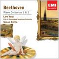 BEETHOVEN:PIANO CONCERTO NO.1/NO.2:LARS VOGT(p)/SIMON RATTLE(cond)/CBSO