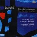"Durufle: Requiem Op.9, 4 Motets Op.10, Messe ""Cum Jubilo"" Op.11, etc (1998) / Christopher Robinson(cond), St.John's College Choir, Cambridge, etc"