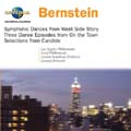 Bernstein: Symphonic Dances from West Side Story, On the Town -Three Dance Episodes, etc / L.Bernstein(cond), IPO, LSO, etc