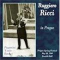 Ruggiero Ricci in Prague; Paganini: 24 Caprices Op.1, etc (5/20/1969)