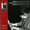 モーツァルト: ピアノ・ソナタ第10番、ベートーヴェン: ピアノ・ソナタ第18番、シューベルト: ピアノ・ソナタ第21番
