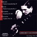 Sibelius:Violin Concerto op.47/Bruch:Violin Concerto No.1/Schubert:Sonatina D.384/etc(1944-56):Gerhard Taschner(vn)/H.Sandberg(cond)/Cologne RSO/etc