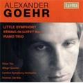 A.Goehr: Little Symphony Op.15, String Quartet No.2 Op.23, Piano Trio Op.20 (1964) / Norman Del Mar(cond), LSO, Allegri Quartet, etc