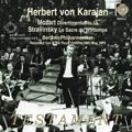 Stravinsky: Le Sacre du Printemps; Mozart: Divertimento No.15, K.287 / Herbert von Karajan, Berlin Philharmonic Orchestra