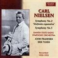 """C.Nielsen: Symphonies No.3 """"Sinfonia Espansiva"""" Op.27 (3/3-5/1955), No.5 Op.50 (8/29/1950) / John Frandsen(cond), Danish State Radio SO, etc"""
