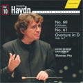 "Haydn: Complete Symphonies Vol.10 -No.60 Hob.I-60 ""Il Distratto"", No.61 Hob.I-61, Overture Hob.Ia-7 (3/11-15/2008) / Thomas Fey(cond), Heidelberg SO"