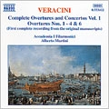 Veracini: Overtures Nos 1,2,3,4 and 6