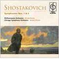 Shostakovich: Symphonies No.1 Op.10, No.5 Op.47 / Efrem Kurtz(cond), Philharmonia Orchestra, Andre Previn(cond), CSO