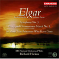 Elgar: Symphony No.3 Op.88, Pomp and Circumstance March No.6, etc (Realisations by Anthony Payne)  / Richard Hickox(cond), BBC National Orchestra of Wales, etc