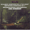 "Schubert: Symphony No.9 D.944 ""The Great""(10/1957); Beethoven: Symphony No.2 Op.36 (5/1952) / Carl Schuricht(cond), SDR SO, VPO"
