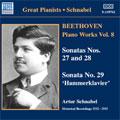 """Beethoven:Complete Beethoven Sonata Society Recordings - Piano Works Vol.8:Piano Sonata No.27/No.28/No.29 """"Hammerklavier"""":Artur Schnabel"""