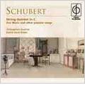 Schubert: String Quintet D.956, Die Forelle D.550, Auf dem Wasser zu Singen D.774, etc / Chilingirian String Quartet, Jennifer Ward Clarke(vc), Janet Baker(Ms), etc