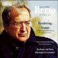 パリ管弦楽団/BERIO:RENDERING/STANZE:CHRISTOPH ESCHENBACH(cond)/ORCHESTRE DE PARIS/DIETRICH HENSCHEL(Br)/FRENCH ARMY CHORUS [ODE1059]