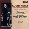 Serge Koussevitzky Live Recordings 1943-1948 Vol.2 -Vaughan Williams/Mussorgsky/Tchaikovsky :BSO