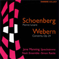 Schoenberg: Pierrot Lunaire;  Webern: Concerto / Rattle