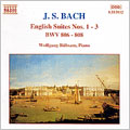 Bach: English Suites Nos 1,2 and 3
