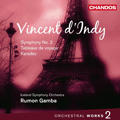 D'Indy: Orchestral Works Vol.2 - Symphony No.2 Op.57, Tableaux de Voyage Op.36, Karadec Suite Op.34 / Rumon Gamba, Iceland SO