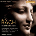 J.S.Bach: Early Cantatas Vol.3 -Erschallet ihr Lieder BWV.172, Himmelskonig sei Willkommen BWV.182, Ich hatte viel Bekummernis BWV.21 / Purcell Quartet, Emma Kirkby(S), Michael Chance(C-T), etc