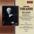 Arturo Toscanini -All Brahms: Serenades No.1, No.2, Academis Festival Overture, Piano Concerto No.2, etc (1935-36) / Robert Casadesus(p), NYP, etc