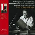 Piano Recital (2004); J.S.Bach: English Suite No.3, Partita BWV.825 - Gigue; Beethoven: Piano Sonata No.23; Schumann: Symphonic Etudes, 5 Variations