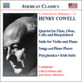 H.Cowell: Instrumental, Chamber and Vocal Music Vol.1