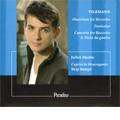 Telemann: Recorder Works; Fantasias, Overture, Concerto for Recorder & Viola da Gamba / Julien Martin(bfl), Josh Cheatham(gamb), Skip Sempe(cemb, cond), Capriccio Stravagante