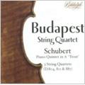 """Schubert: String Quartets No.13 D.804, No.14 D.811 """"Death and the Maiden"""", No.15 D.887, Piano Quintet D.667 """"Trout"""" (1953) / Budapest String Quartet, etc"""