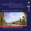 MENDELSSOHN:PIANO CONCERTOS NO.1 OP.25/NO.2 OP.40/PIANO MUSIC:ELISABETH LEONSKAJA(p)/ILAN VOLKOV(cond)/CAMERATA SALZBURG