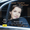 Beethoven: Violin Concerto Op.61, Romances No.1, No.2  / Anne-Sophie Mutter(vn), Kurt Masur(cond), NYP