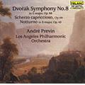 Dvorak: Symphony No.8 Op.88, Scherzo Capriccioso Op.66, Notturno Op.40 (4/1989) / Andre Previn(cond), Los Angeles PO