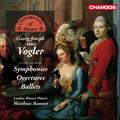 Vogler: Symphonies, Overtures, Ballets - Symphony in D minor, Ballett Suites No.1, No.2, etc / Matthias Bamert, London Mozart Players