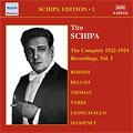 Tito Schipa Edition Vol.1:The Complete Recordings 1922-24 Vol.1
