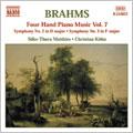 Brahms : 4 Hands Piano Music / Matthies, Kohn