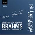 ブラームス: 交響曲第2番、第4番
