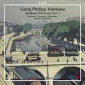 G.P.Telemann: Quartetti Parigini Vol.1 - Sonata TWV.43-A1, Quartett TWV.43-a2, TWV.43-e1, etc / John Holoway(vn), Linde Brunmayr(fl), Lorenz Duftschmid(gamb), etc